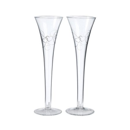 Lillian Rose Double Heart Flutes