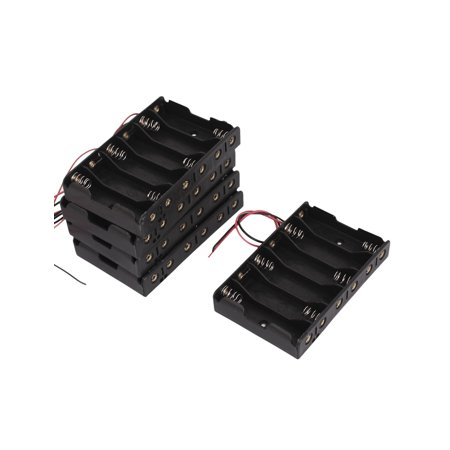 5pcs 2-Wires Plastic Container Case Holder Storage Box for 6 x 1.5V AA Battery - image 1 of 3