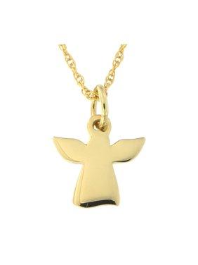 Beauniq 14k Yellow Gold Tiny Angel Pendant Necklace
