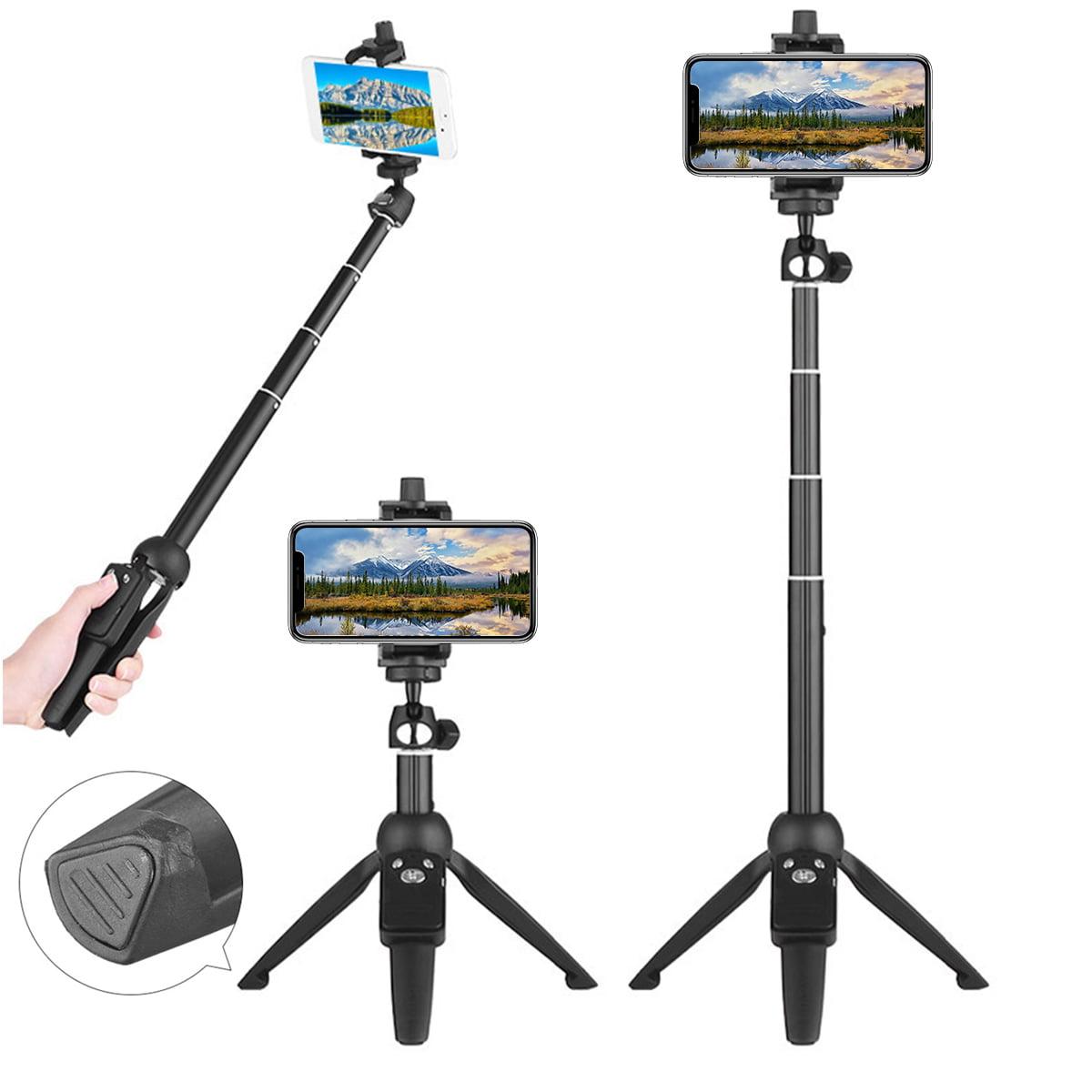 LSYOA Bluetooth Selfie Stick Tripod Stand Selfie Stick Monopod Wireless Remote Compatible with Smartphones Wireless Remote Extendable Stand,Pink