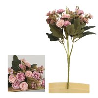 5 Heads Silk Carnations Artificial Fake Flower for Bouquets Weddings Cemetery Crafts Wreaths; 5 Heads Silk Carnations Artificial Flower for Wedding Cemetery Wreath