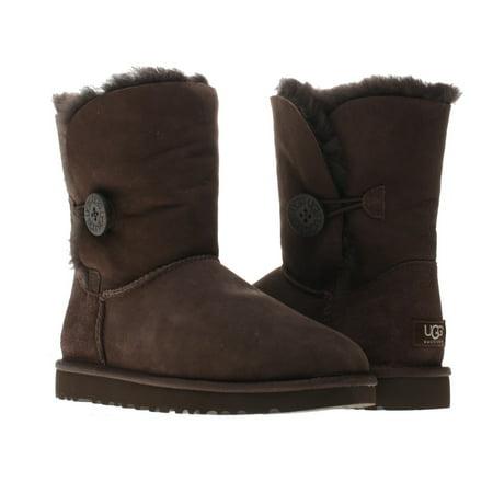 e9ce3b40f59 UGG Australia Bailey Button Women's Chocloate Winter Boots 5803 Size 9