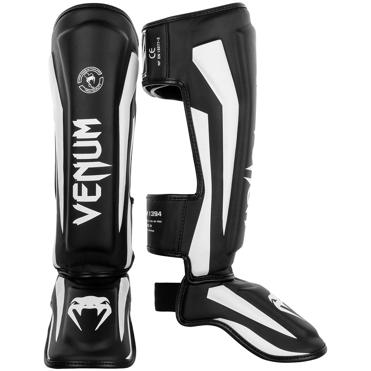 Venum Elite Lightweight Standup Protective MMA Shin Guards - Black/White