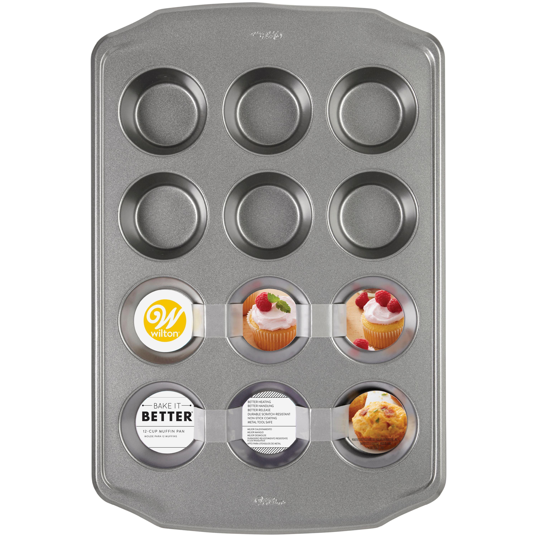 Wilton Bake It Better Non-Stick Muffin Pan, 12-Cup - Walmart com