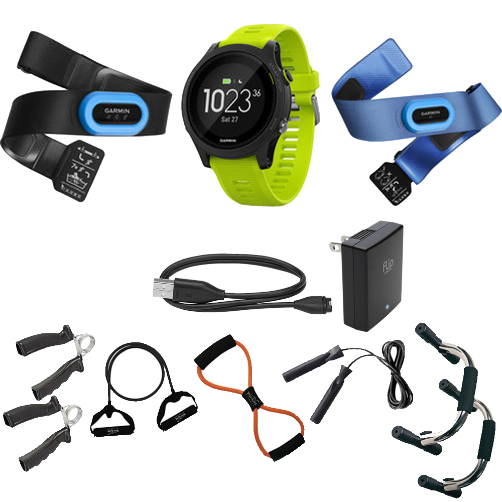 Garmin Forerunner 935 Sport Watch Tri Bundle (Black/Yello...