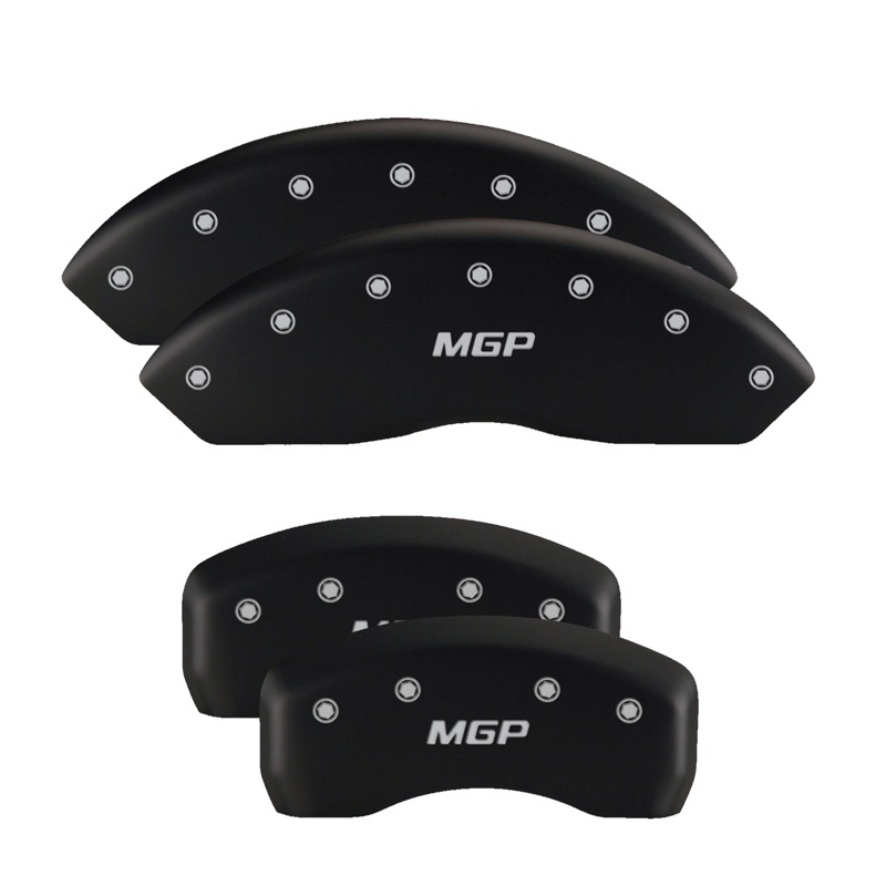 MGP 4 Caliper Covers Engraved Front & Rear Gen 5/Camaro Red finish silver ch