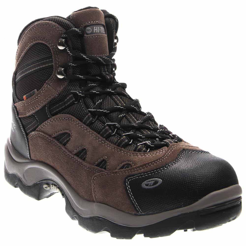 Click here to buy Hi-Tec Men's Bandera Mid 200g Waterproof-M Snow Boot, Dark Chocolate Bungee Warm Grey, 10.5 M US by Hi-Tec.