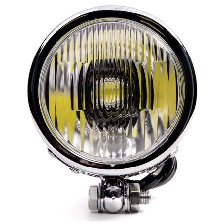 "Krator 4.25"" Mini Headlight w/ High and Low Beam + Fog Lights LED Bulb Chrome Housing for Suzuki Boulevard C109R C50 C90 - image 5 of 7"