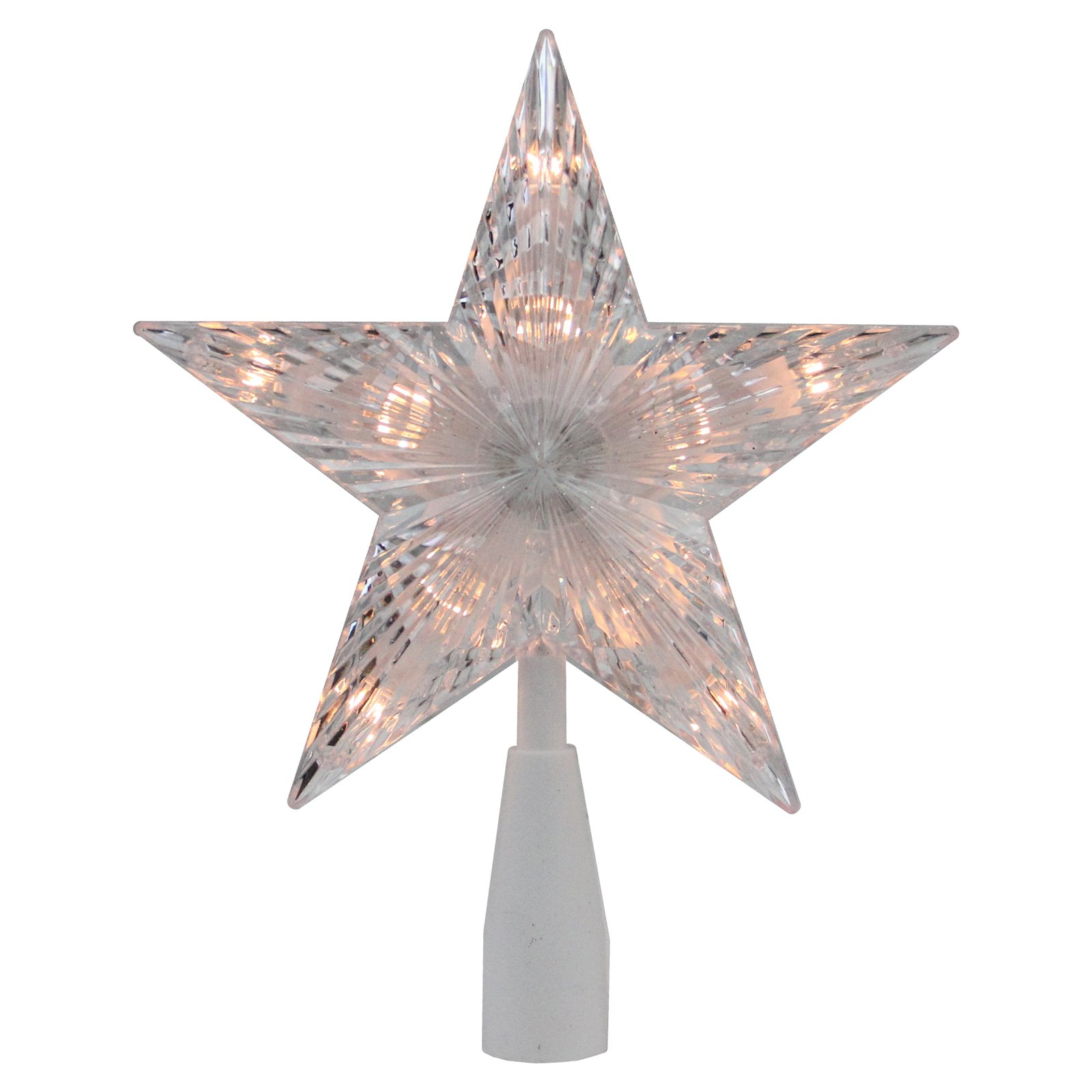 Northlight 7 in. Traditional Star Lighted Christmas Tree Topper