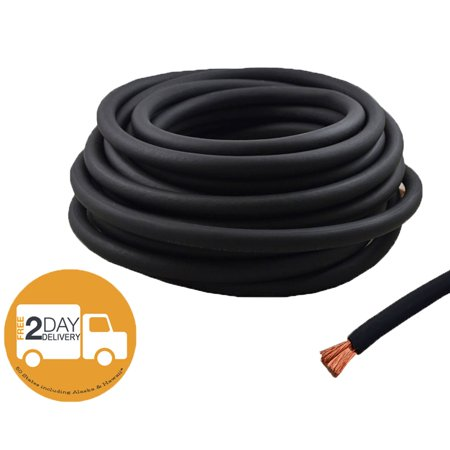4 Gauge 25 Feet High Performance Flexi Amp Power/Ground Cable 4 AWG Wire Black