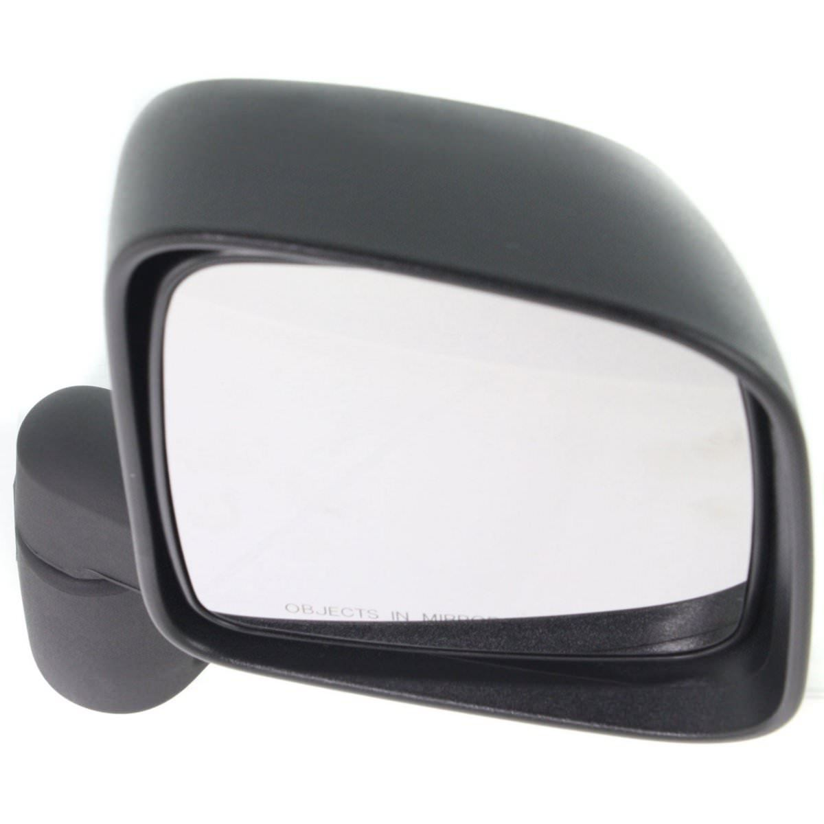 NEW RIGHT MANUAL MIRROR TEXTURED BLACK FOR 2003-2006 JEEP WRANGLER CH1321234