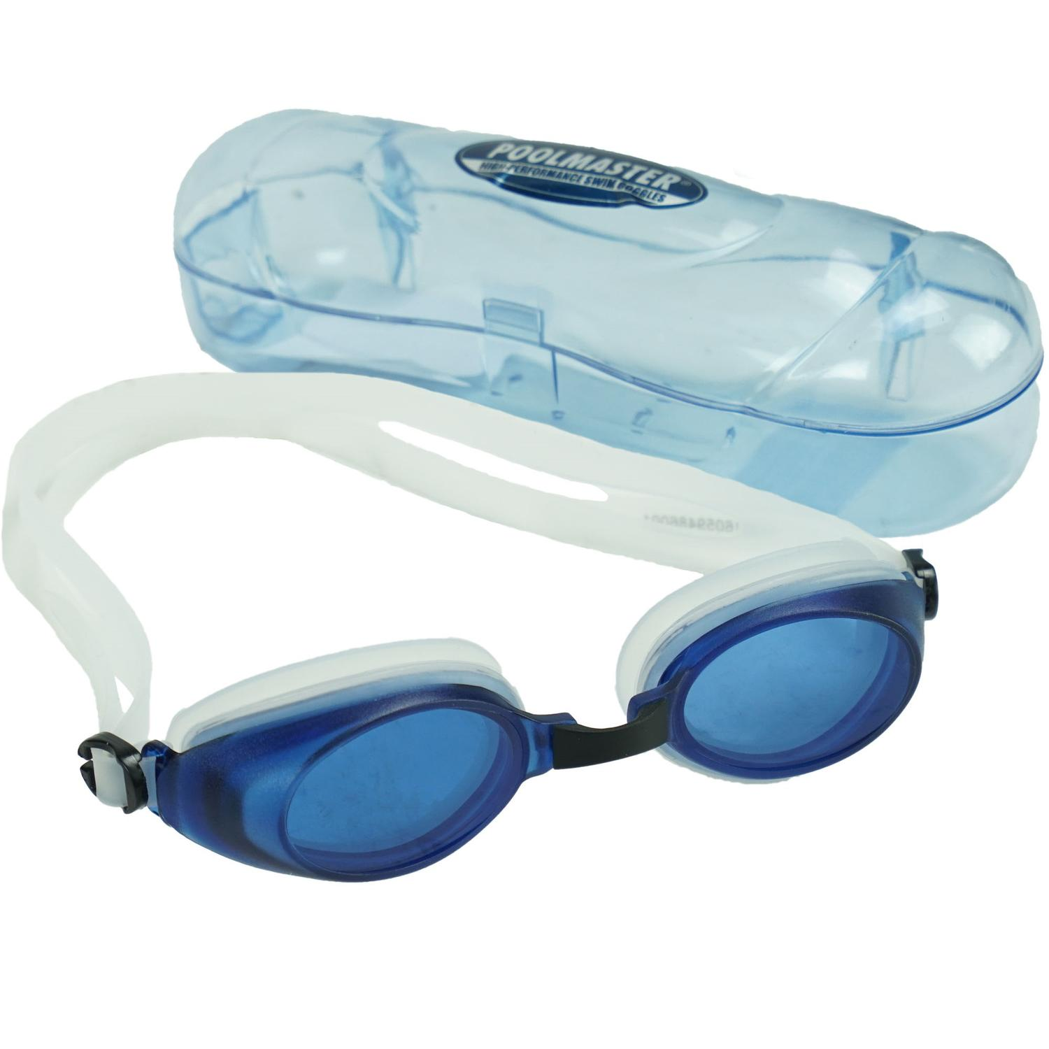 """6.5"""" Blue and Clear Pro Swim Goggles Swimming Pool Accessory for Children by Pool Central"""