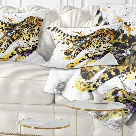 DESIGN ART Designart 'Cheetah Illustration Artwork' Animal Throw