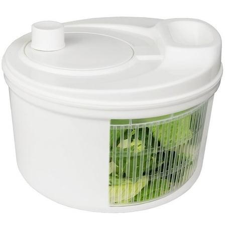 GreenCo Easy Spin Manual Salad Spinner, 3.2-Quart