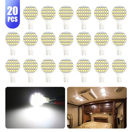 EEEKit LED Bulb Super Bright T10 921 6000k White 24SMD 20-Pack, LED Light Lamp RV Interior Repalcement