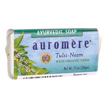 Auromere Ayurvedic Bar Soap Tulsi Neem, 0.71 oz (Best Ayurvedic Beauty Products)
