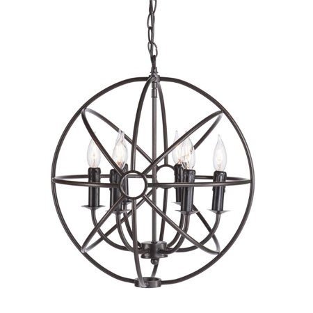 Southern Enterprises Adriel 6 Light Orb Pendant Lamp In Antique Bronze