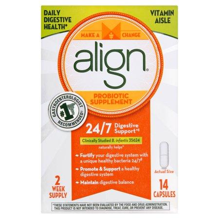 Align supplément probiotique capsules, 14 compte
