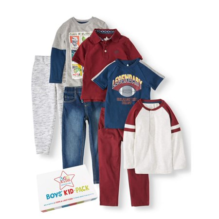 Outfits For Kids (365 Kids from Garanimals Kid-Pack Mix & Match Gift Box, 7-Piece Outfit Set (Little Boys & Big)