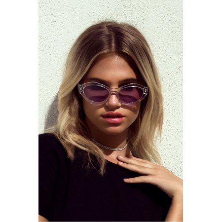QUAY Australia X Kylie Jenner AS IF! CLEAR / PURPLE LENS (Sunglasses Like Kylie Jenner)
