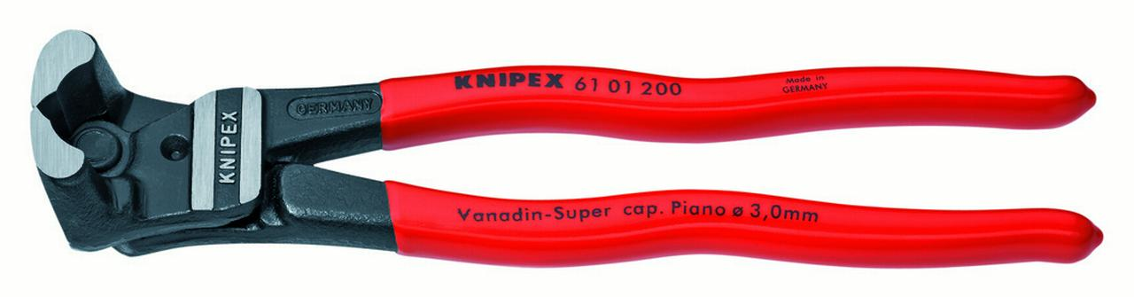 KNIPEX Tools 61 01 200, 8-Inch High Leverage End Cutting Nippers Bolt Cutters by KNIPEX Tools