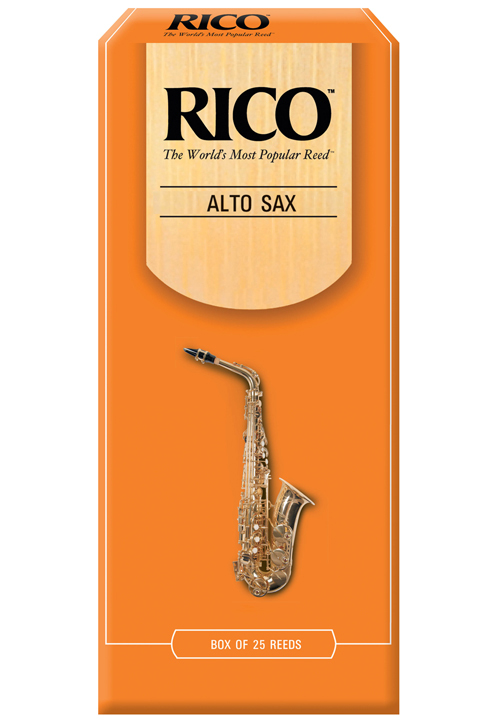 Rico Alto Saxophone Reeds, Strength 2.5, 25-Pack by Rico