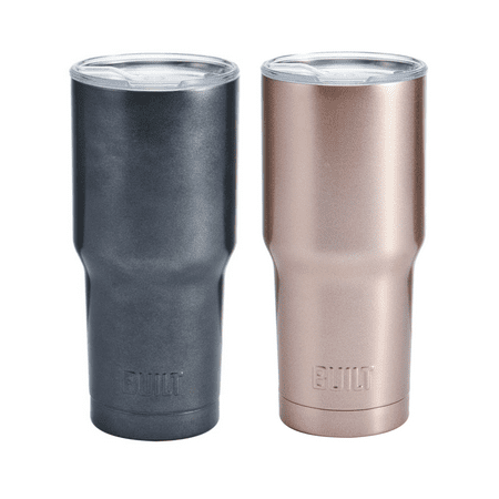 Built Set of 2 30 oz Double Wall Stainless Steel Tumblers