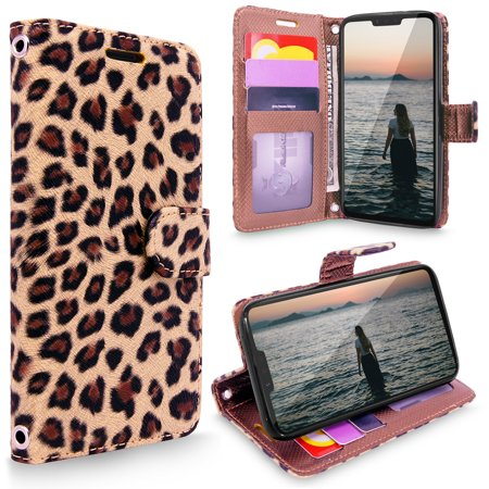 Full Flap Leather Case (LG G8 Case, LG G8 ThinQ Case, Cellularvilla [Slim] [Card Slot] Premium Leather Wallet Case [Wristlet] [Drop Protection] Flip Full Body Protective Stand Cover For LG G8 ThinQ)