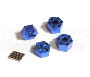 Integy RC Toy Model Hop-ups T7965BLUE Wheel Hub (4) for Traxxas 1 10 Stampede 2WD & Slash... by Integy