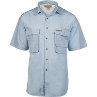 Hook & Tackle Gulfstream Short Sleeve Shirt - CO - Aqua 1013S L