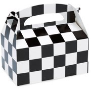 Black And White Check Empty Favor Boxes 4pk