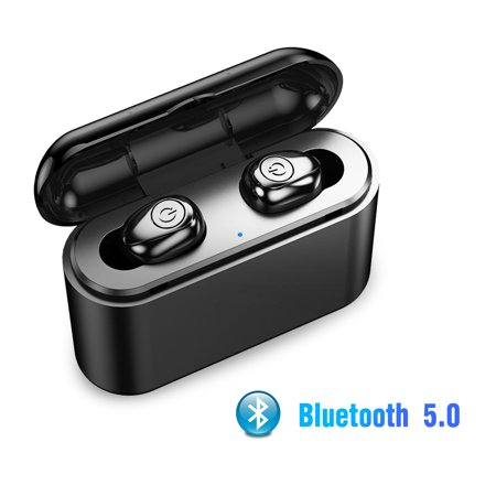 EEEKit Bluetooth 5.0 True Wireless Earbuds In-Ear Sports Noise Cancelling Headphones Earphones with Built-in Mic, Charging Case for Smartphones PC Tablets