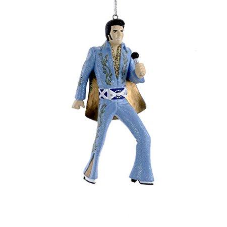 Blue Suit Elvis Presley with Microphone Christmas Tree Ornament, Kurt Adler  By Kurt Adler - Blue Suit Elvis Presley With Microphone Christmas Tree Ornament