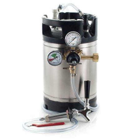 1. 75 Gallon Ball Lock Keg System w/Faucet and Shank, New AIH Keg