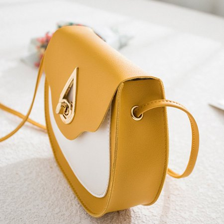 Fashion contrast saddle bag Casual Shoulder Messenger Bags Female Bags - image 7 de 7
