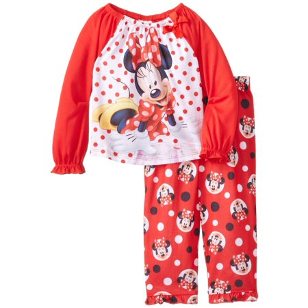 Disney Little Girls'  Minnie Mouse Toddler Pajama