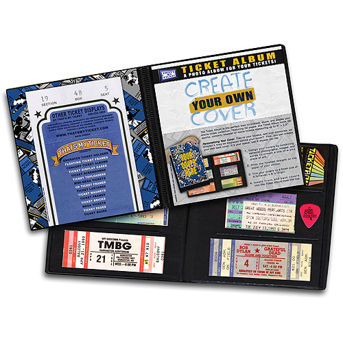 Ticket Album Create-Your-Own-Cover (Holds 96 Tickets) TACREATE
