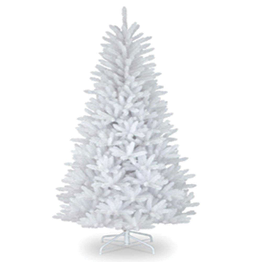 7ft White Christmas Tree Traditional Artificial Tree 800 Tips With Metal Stand Walmart Com Walmart Com