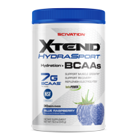 Scivation Xtend Hydrasport BCAA Powder, Branched Chain Amino Acids, 7g BCAAs, Blue Raspberry, 30 Servings