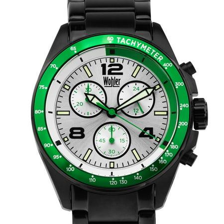 Wohler wohler heidegger men 39 s sport chronograph watch miyota js00 movement bright for Luminescence watches