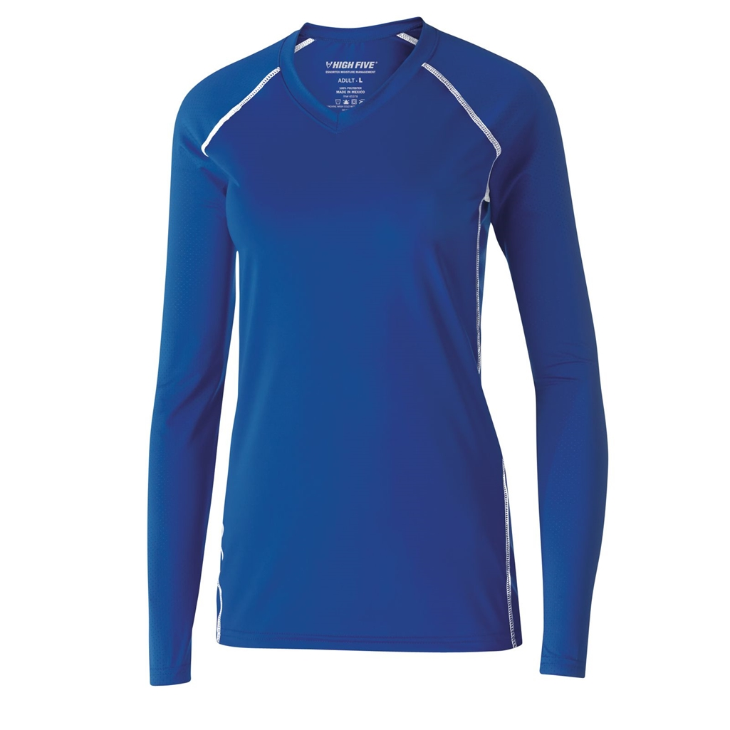 Holloway Ladies Solid Long Sleeve Volleyball Jersey