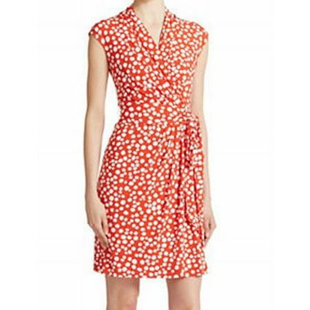 b6980b0c170 Eliza J - Eliza J NEW Red Women Size 18W Plus Dotted Jersey Knit Faux-Wrap  Dress - Walmart.com
