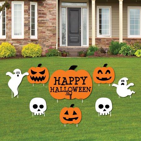 Happy Halloween - Yard Sign & Outdoor Lawn Decorations - Halloween Yard Signs - Set of 8