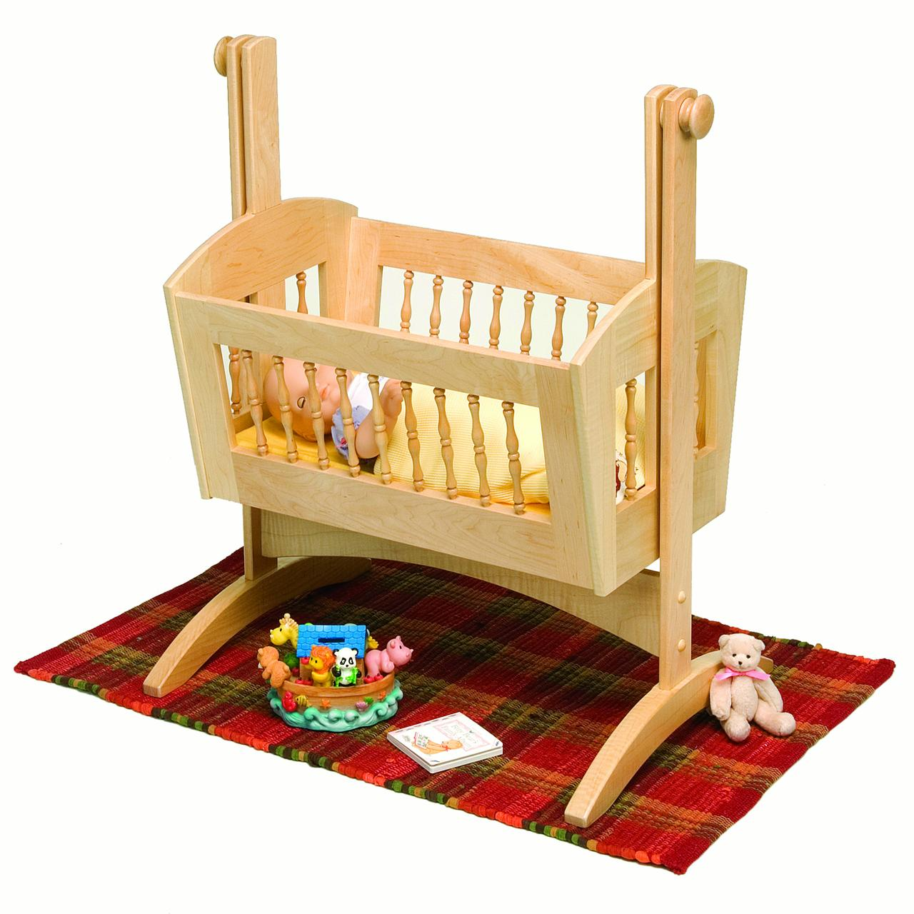 Woodworking Project Paper Plan to Build Pendulum Doll Cradle, Plan Only