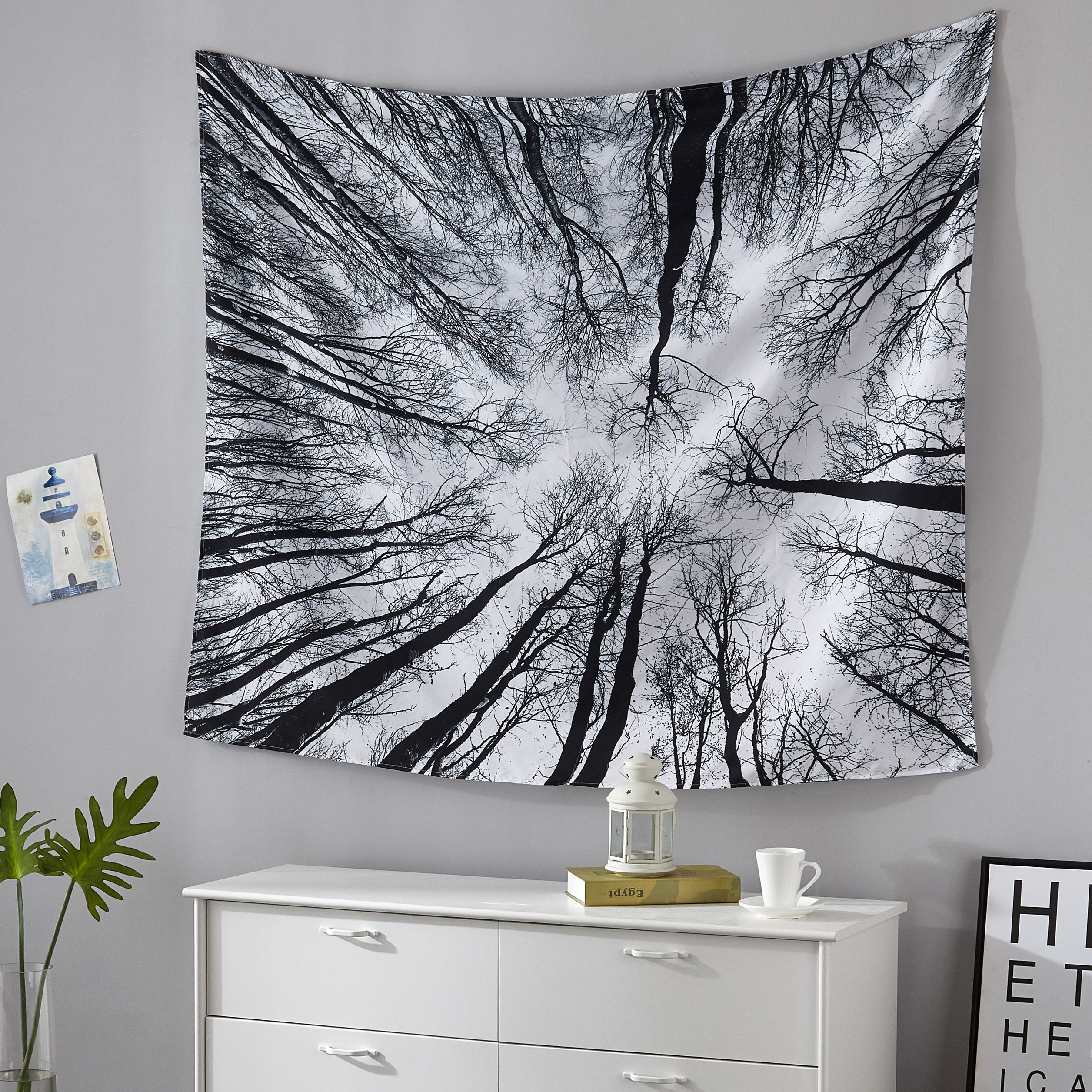 Mainstays Photo Real Trees Tapestry 50 x 60 in by Idea Nuova