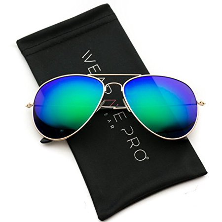 WearMe Pro - Polarized Metal Frame Pilot Style Aviator (Prada Polarized Aviator Sunglasses)