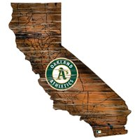 Oakland Athletics 12'' Road Map State Cutout Sign