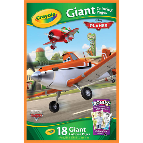 Crayola Giant Color Pages, Disney Planes