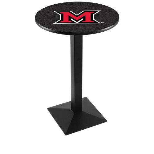 NCAA Pub Table by Holland Bar Stool, Black - Miami University, 36'' - L217