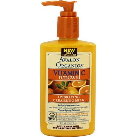 3 Pack - Avalon Organics Intense Defense Hydrating Cleansing Milk 8.5 oz Avalon Organics Facial Cleansing Milk Lavender